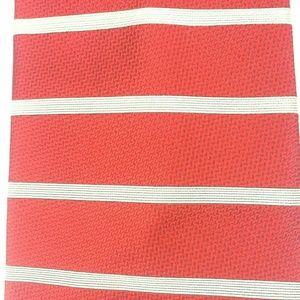"J. Crew Silk Neck Tie Red White Stripes 3.75""X56"""
